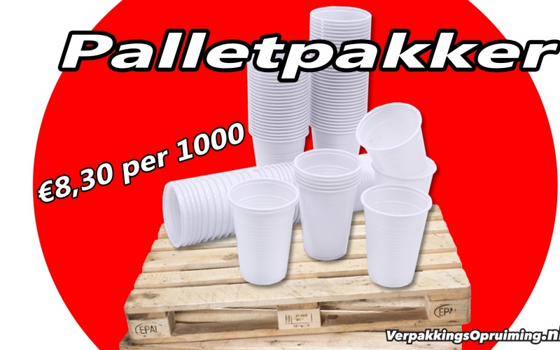 Palletpakker | Drinkbeker plastic voor maar €8,30 per 1000 stuks!